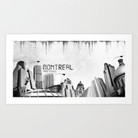 montreal Art Prints featuring Montreal by Yan-k