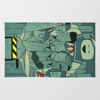 ghostbusters Area & Throw Rugs featuring Ghostbusters by Ale Giorgini