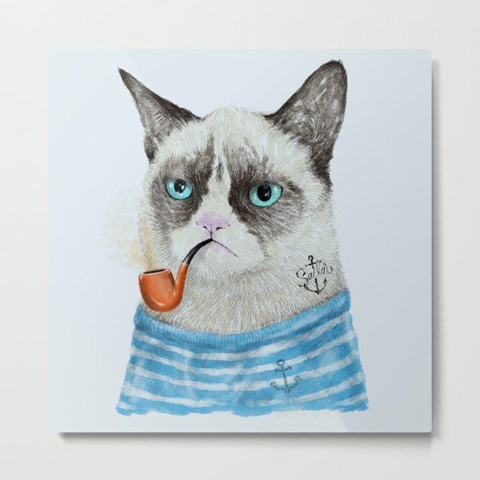 Sailor Cat I Metal Print
