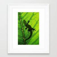lizard Framed Art Prints featuring Lizard by Nicklas Gustafsson