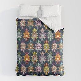 Colorful Cuckoo Clocks Comforters