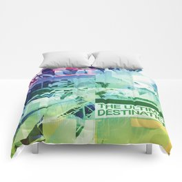 The Ultimate Destination (mixed media) Comforters