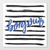bonjour Canvas Prints featuring Bonjour! by magicmaia
