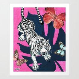 Butterfly Tiger Art Print