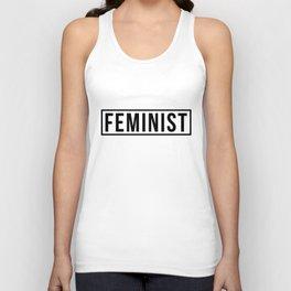 Feminist White Unisex Tank Top