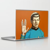 spock Laptop & iPad Skins featuring Mr. Spock by Maripili
