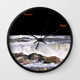 Bounce and Hope Wall Clock