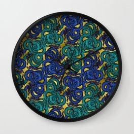 Thai Naga Gold Wall Clock