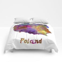 Poland in watercolor Comforters