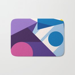 Abstract modern geometric background. Composition 10 Bath Mat