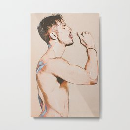 Sucking and Licking Metal Print