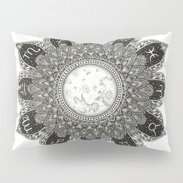 Astrology Signs Mandala Pillow Sham