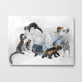 Awesome mustelids Metal Print