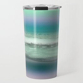 Twilight Sea in Shades of Green and Lavender Travel Mug