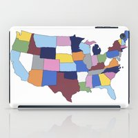 usa iPad Cases featuring USA by Project M