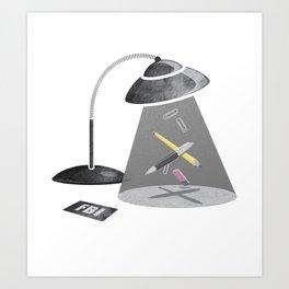 Desktop Abduction Art Print