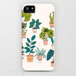 House Plants illustration iPhone Case