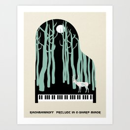 Rachmaninoff -  Prelude in C-Sharp Minor for Piano Art Print