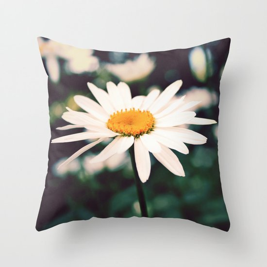 Afternoon Daisy Throw Pillow