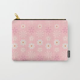 Delicate little flowers and stars on soft pastel pink Carry-All Pouch