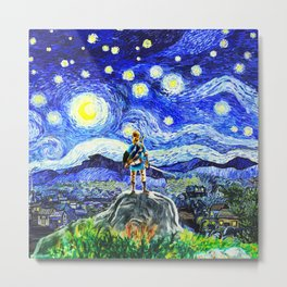 triforce link starry night Metal Print