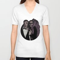 dna V-neck T-shirts featuring Same DNA by AdamAether