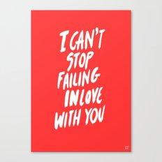 Failing Canvas Print