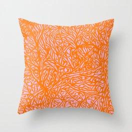 Summer Orange Saffron - Abstract Botanical Nature Throw Pillow