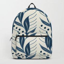 Indigo Leaves #society6 #pattern #indigo Backpack