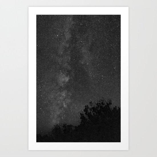 Black & White Nightscape Art Print