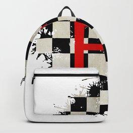 The Chequered Splatter Backpack