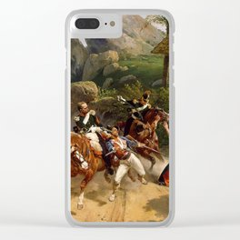 Classical Masterpiece Italian Brigands Surprised by Papal Troops by Horace Vernet Clear iPhone Case