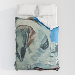 Holly the White Boxer Dog Comforters