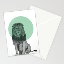 sitting lion Stationery Cards