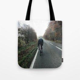 hammering down on road bike Tote Bag