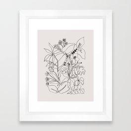 Charcoal Tropics Framed Art Print