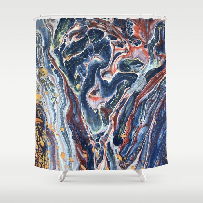 001 POUR Shower Curtain