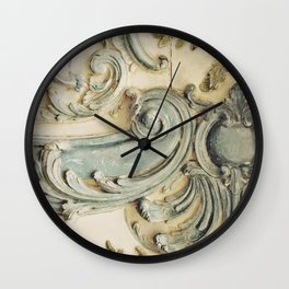 Blue Lace of Versailles Wall Clock