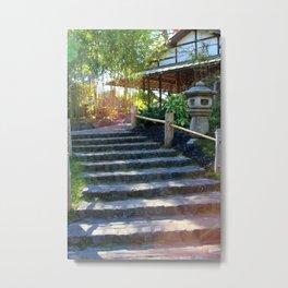 Japanese Tea Garden Stairs Metal Print