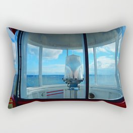Lighthouse and Sea Beyond, seen from the Balcony Rectangular Pillow