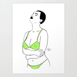 WOMAN 61 Art Print