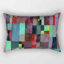 Paul Klee Red Green Architecture Rectangular Pillow