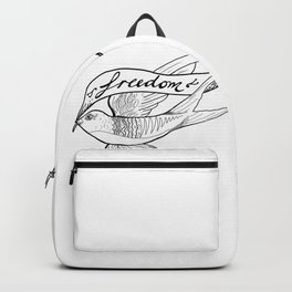 Swallow flying for freedom Backpack