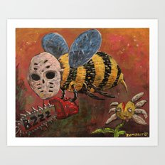 Psycho Bee Art Print