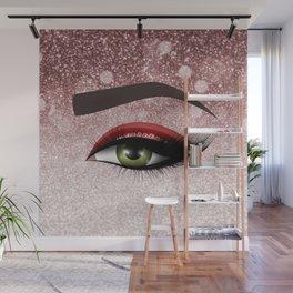 Glam diamond lashes eye #2 Wall Mural