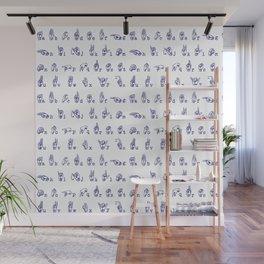 ASL Alphabet // Blue Wall Mural