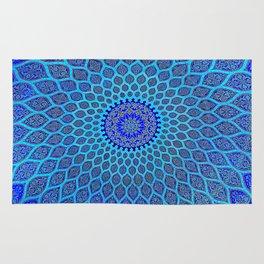 Blue Arabic Mosaic Rug
