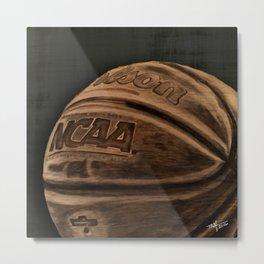 Colored Basketball Art Metal Print
