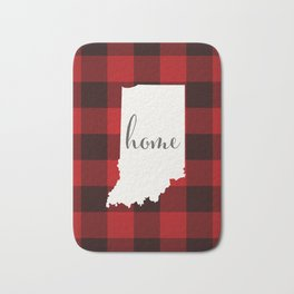 Indiana is Home - Buffalo Check Plaid Bath Mat