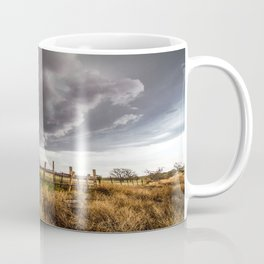 Western Life - Barbed Wire and Storm on the Ranch Coffee Mug